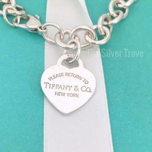 Large Return to Tiffany Heart Tag Charm Br…
